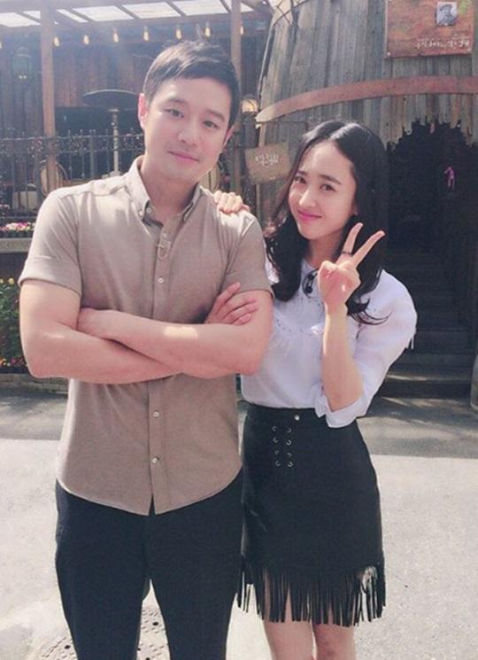 천정명(왼쪽) 김민정(오른쪽)