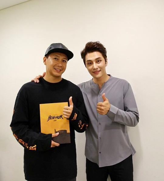 뮤지컬 벤허 김승현(왼쪽) 민우혁(오른쪽)