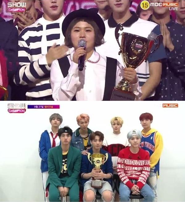 쇼챔피언 방탄소년단 DNA 1위