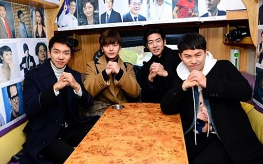 집사부일체 청춘 4인방 이승기 육성재 이상윤 양세형(왼쪽부터)