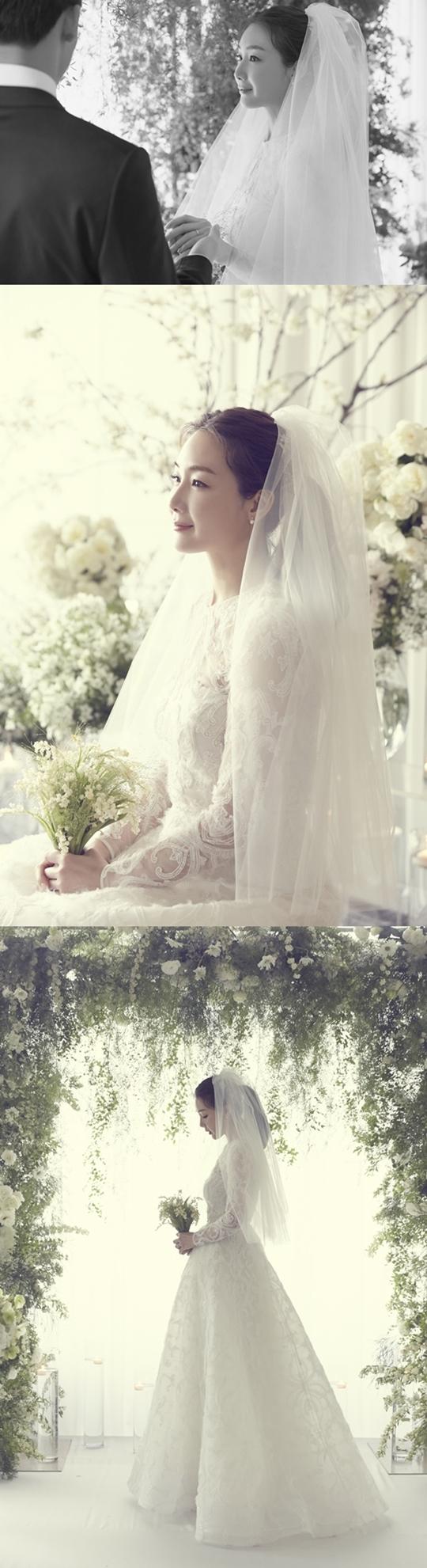 최지우 결혼사진