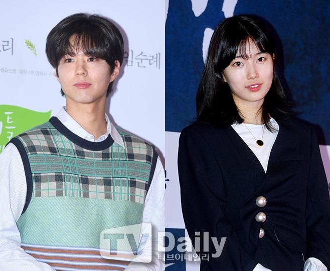 박보검(왼쪽) 수지(오른쪽)
