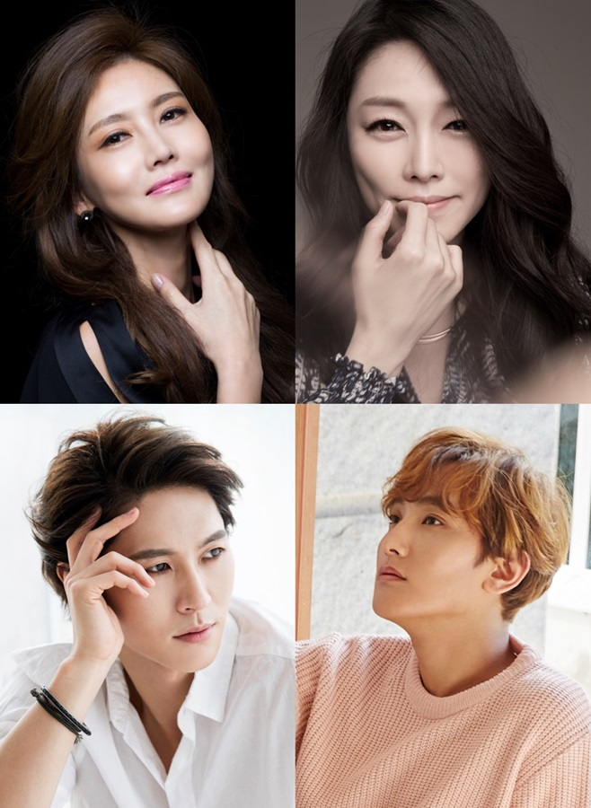 (왼쪽 위부터 시계 방향) 김선영, 차지연, 강타, 박은태