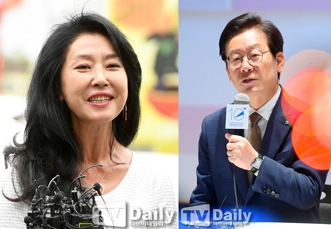 배우 김부선(왼쪽), 이재명 경기도지사(오른쪽)