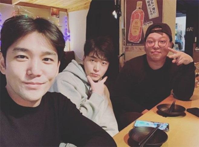 강인(왼쪽부터) 작곡가 윤재희, 골목식당 홍탁집 아들 권 씨
