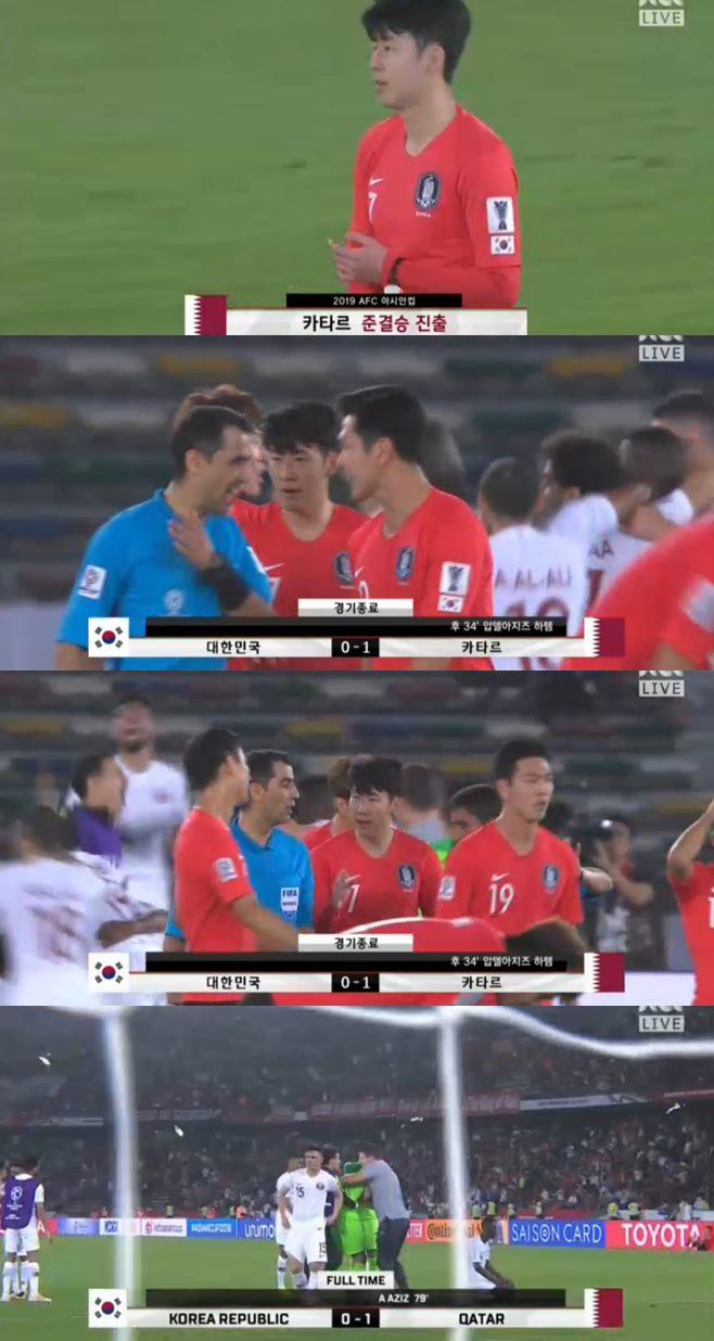 대한민국 카타르 8강전 1대0 패배 2019 아시아축구연맹 아시안컵