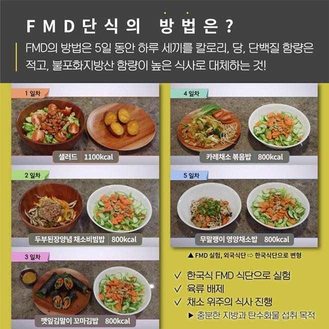 SBS 스페셜 FMD 식단 설명서