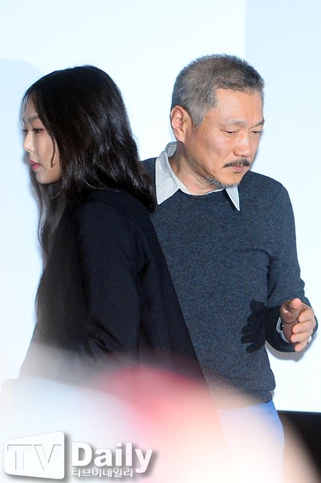 배우 김민희, 영화감독 홍상수