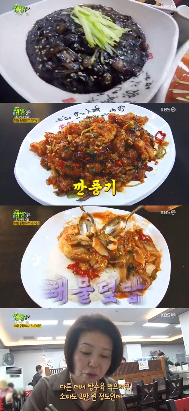 '2TV 생생정보' 8000원 중식뷔페, 짜장면·탕수육 '초저가의 비밀' 맛집 3900원 수제돈가스 갑오징어다리볶음 2층 해물철판