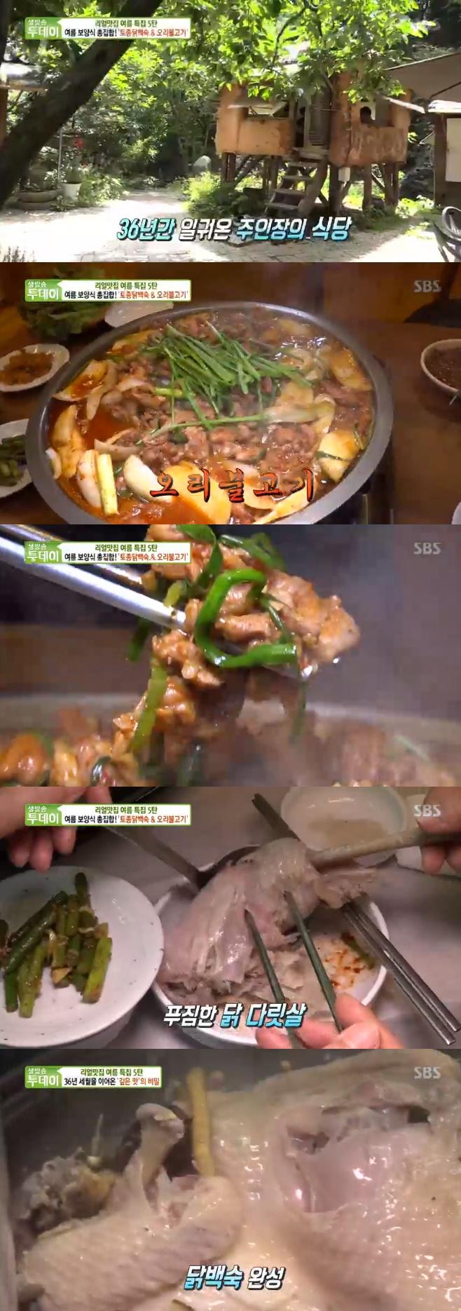 생방송 투데이, 토종닭백숙, 오리불고기