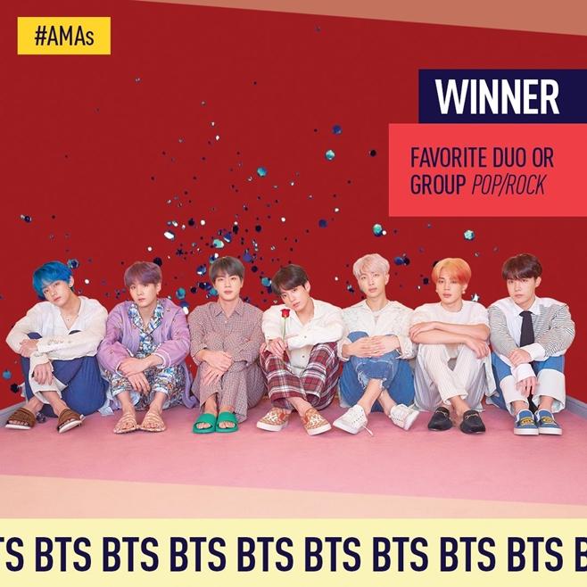 그룹 방탄소년단(BTS) 2019 AMAs 3관왕