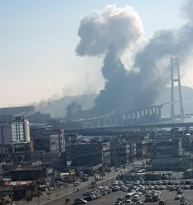 포스코 광양제철소 폭발