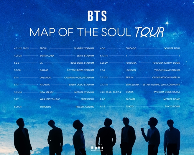방탄소년단, BTS, MAP OF THE SOUL TOUR